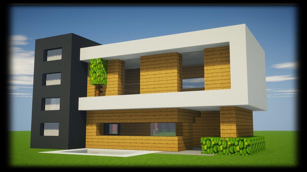 Tuto Petite Maison Moderne Facile A Faire Minecraft Youtube