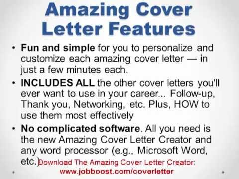 Amazing Cover Letter Creator Download Link  Bonus  YouTube