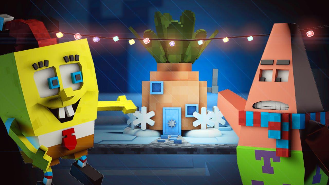 Spongebob In Minecraft Santa Has Its Eyes On Me Minecraft Animation YouTube