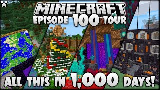 In 1,000 Days, I Did ALL THIS In Minecraft! (World Tour!)