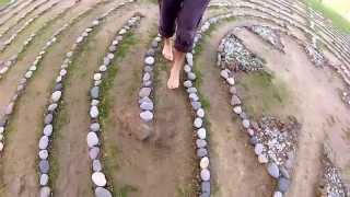 Walking the Outdoor Chartres Labyrinth at the EarthRise Retreat Center