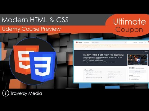 Udemy Course Alert - Modern HTML & CSS
