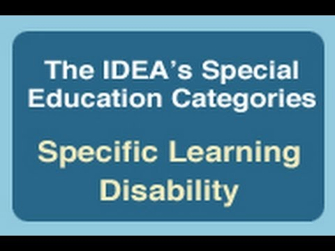 categories of learning disabilities Inclusion resource  high-incidence disabilities include the following idea categories:  learning disabilities - disorder in one or more of the basic.
