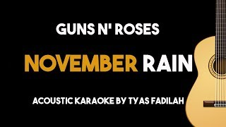 Guns n' Roses - November Rain (Acoustic Guitar Karaoke Backing Track with Lyrics)