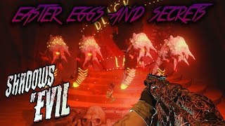 SHADOWS OF EVIL - ALL EASTER EGGS AND SECRETS WALKTHROUGH (Black Ops 3 Zombies)