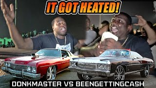 DONKMASTER VS BEENGETTINGCASH SΗUT DOWN THE TRACK! Clash of the Titans 3 Donk Grudge Race