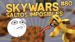 SALTOS IMPOSIBLES EN MINECRAFT SKYWARS NO PREMIUM #80