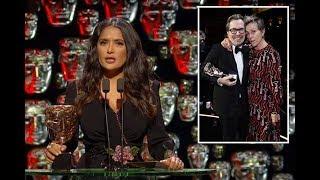Salma Hayek names Three Billboards actress Frances McDormand winner of Best Actor instead of