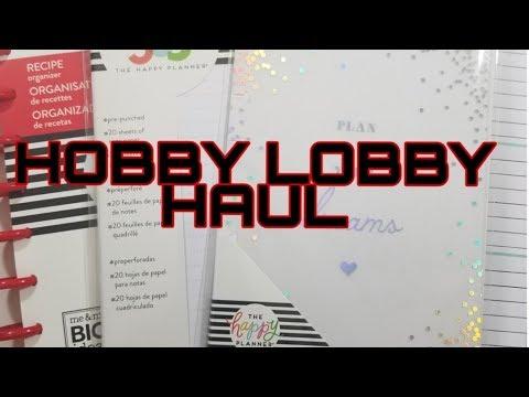 Hobby Lobby Planner Haul   Featuring Happy Planner Recipe Book Flip Through