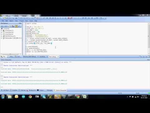 Python receive Data from client , With Serial data communication For