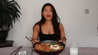 2 x Nuclear Fire Noodle Challenge   SPEED RECORD  Eating Show