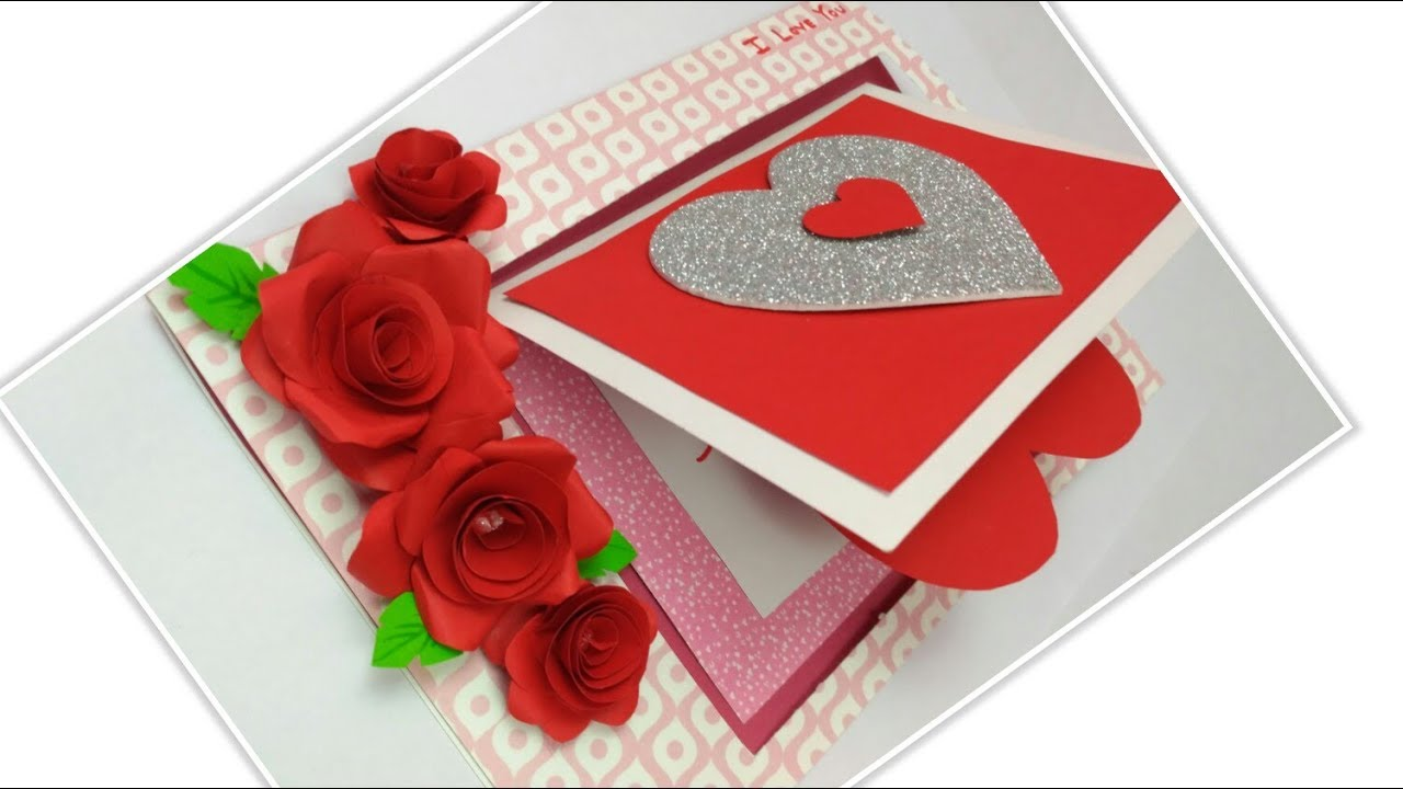 3D Pop-up Rose Flower Paper Greeting Card Valentine/'s Day Romantic Gift Wide