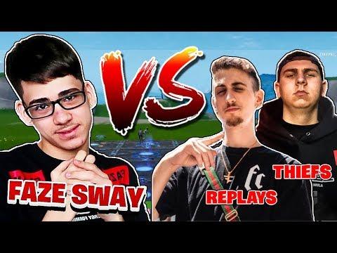 FaZe Sway Challenged FaZe Replays & FaZe Thiefs to 2v1 and THIS HAPPENED...
