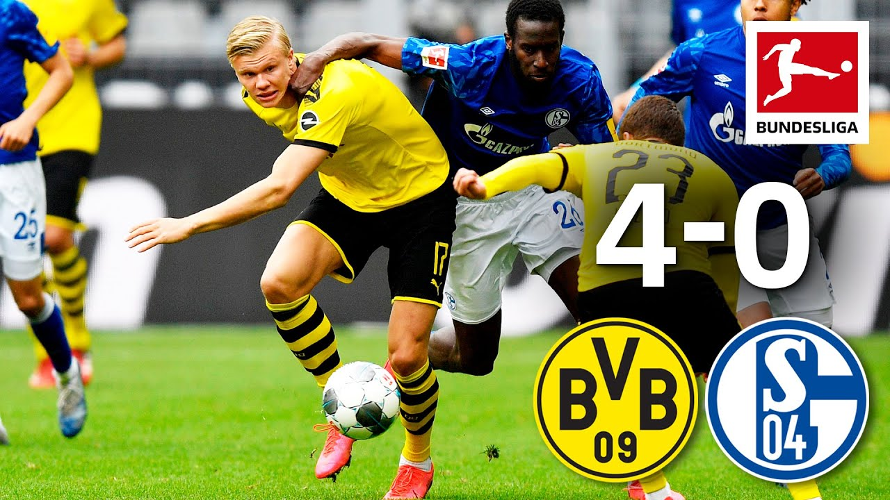 Download Borussia Dortmund vs. FC Schalke 04 I 4-0 I Haaland, Guerreiro & Hazard Goals in Revierderby Win