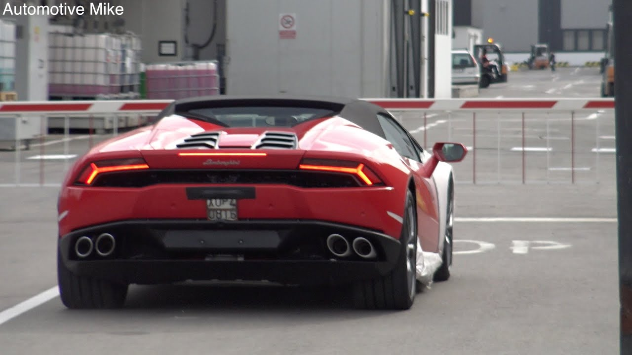 Blue Lamborghini Hd Wallpaper Exclusive New Lamborghini Huracan Spyder Testing At The