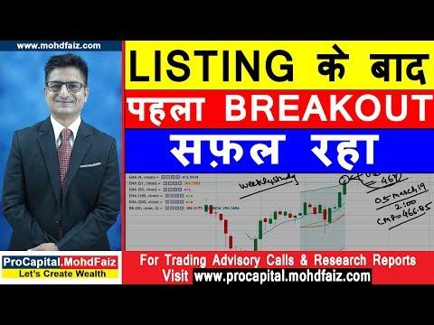 LISTING के बाद पहला BREAKOUT सफ़ल रहा   Latest Share Market Tips