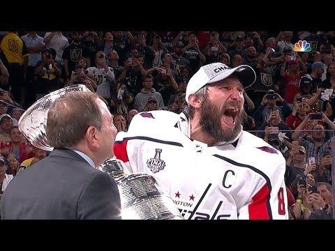 Alex Ovechkin and the Capitals lift the Stanley Cup!