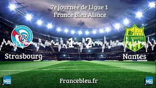 Ligue 1 : Le Racing Club de Strasbourg s'incline 2-1 face au FC Nantes