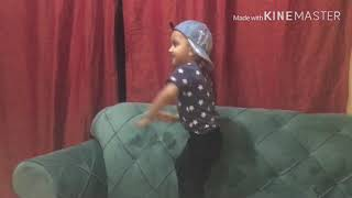 Baby dancing on Bollywood song. Funny dance. Kids video.
