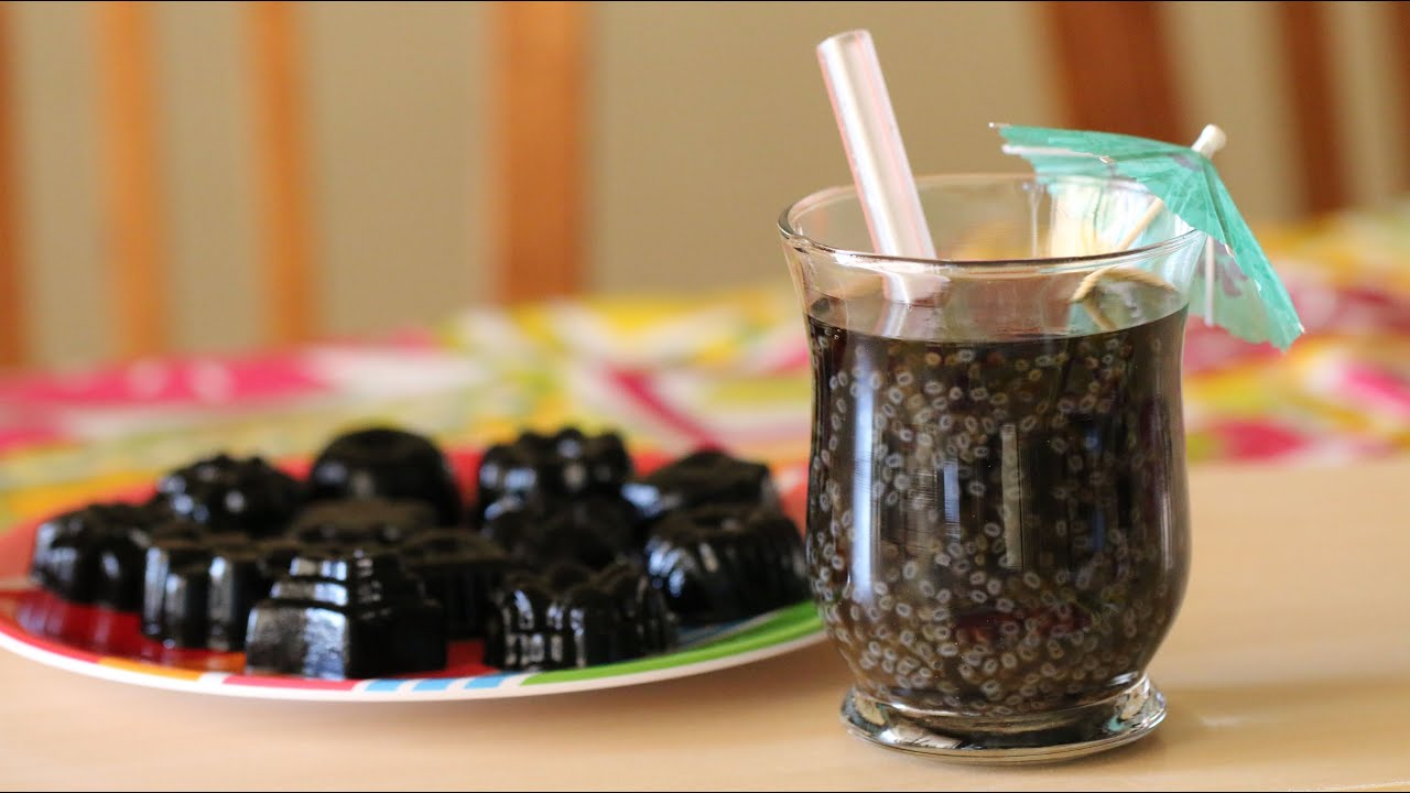 Grass Jelly Drink With Thai Basil Seed Recipe Nuoc Suong Sao Hot E