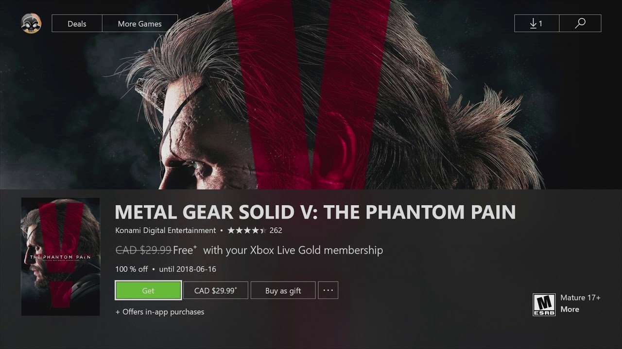 How to Download / Install Metal Gear Solid V: The Phantom Pain for Xbox  FREE - xbox live Gold
