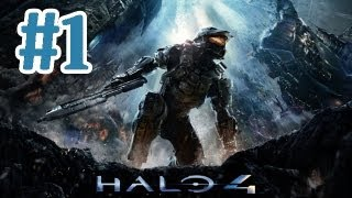 Halo 4 Gameplay Walkthrough Part 1 - Campaign Mission 1 Dawn - Xbox 360 Let's Play With Commentary