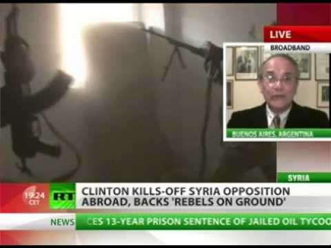 Interview on RT English with Kevin Owen on Syria - 01Nov2012