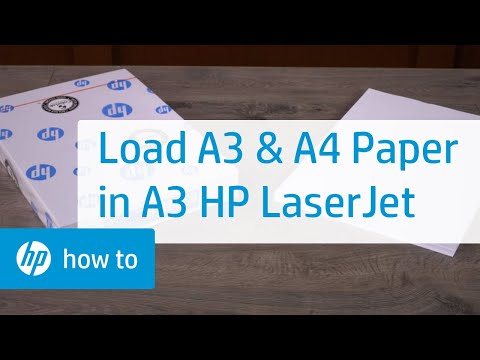 How To Load A3/Tabloid and A4/Letter Paper in A3 HP LaserJet | HP LaserJet | HP