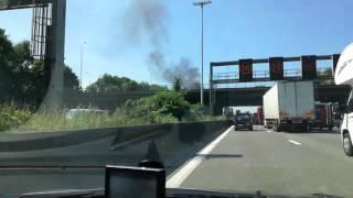 Brand op de ring Antwerpen 2 juni 2017