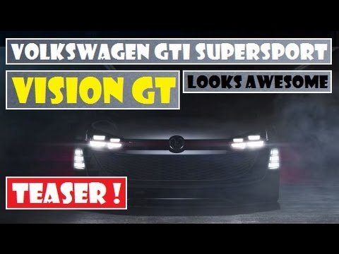 Volkswagen GTI Supersport Vision Gran Turismo, teased, it looks like it'll be awesome