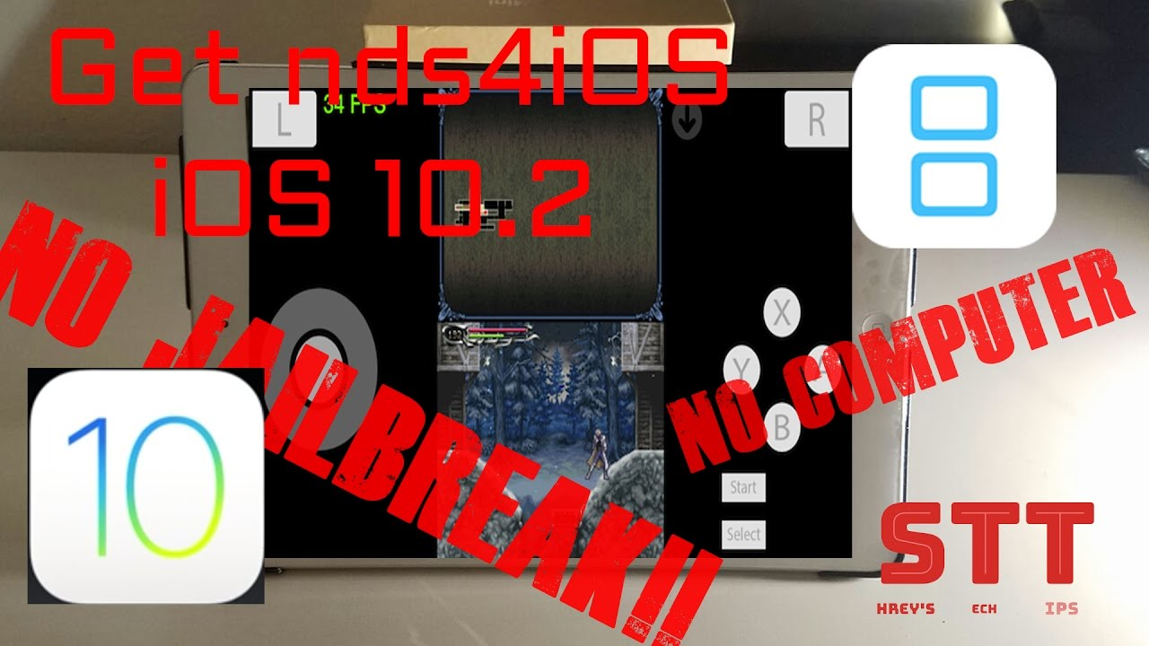 Get nds4iOS iOS 10 3 NO JAILBREAK NO COMPUTER