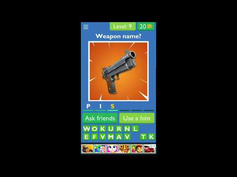 """Fortnite App Guess The Picture Quiz For Fortnite - Level 01 ... 10 
