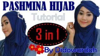 Tutorial Hijab Simple Pashmina Lebaran 2015 | 3 in 1 Hijab Style by Didowardah