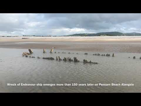 Remains Of Shipwreck Dating Back 150 Years Found On Pensarn Beach Abergele North Wales