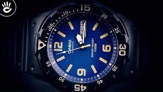Review Đồng Hồ Casio MRW-200H-2B3VDF mặt số xanh thời trang nền vạch số dày dặn thể thao