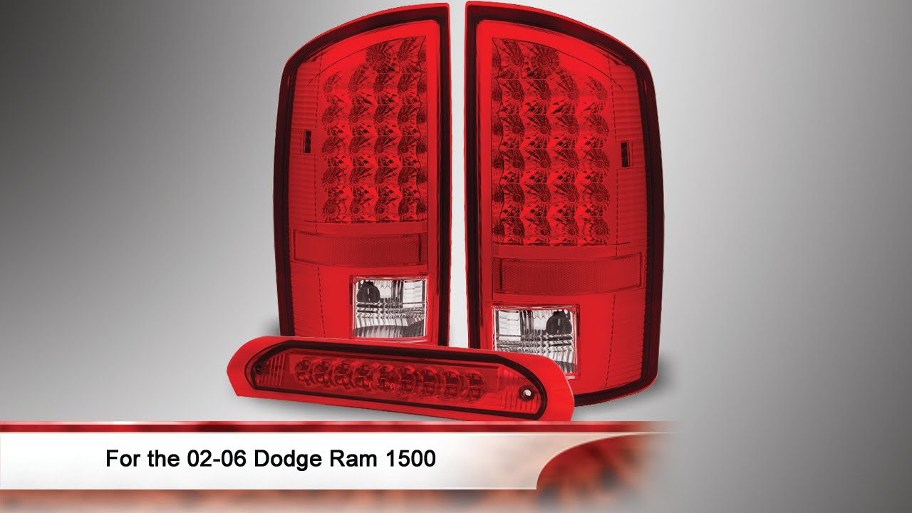 02 06 Dodge Ram 1500 Led Tail Light With 3rd Brake Lamp