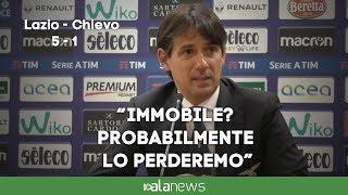 """Lazio-Chievo, Inzaghi: """"Immobile? Probabilmente lo perderemo"""""""