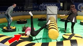 THIS WAS A VERY BAD IDEA!! - CRAZY WIPEOUT CHALLENGE