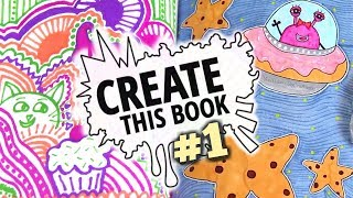 SHARPIE DOODLES : CREATE THIS BOOK #1 // SoCraftastic