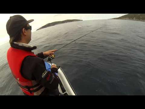 JETSKI FISHING FOR SALMON @ ALBANY W.A