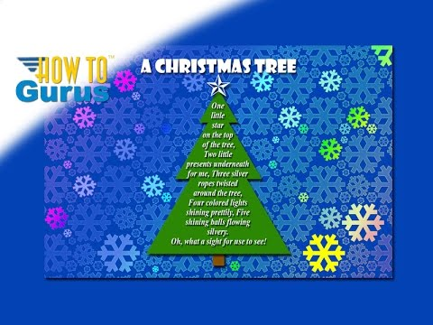 How to make a Christmas Tree Poem Card Photoshop Elements ...