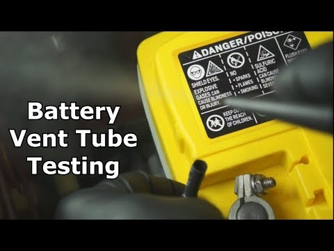 Battery Vent Tube Testing The Battery Shop Youtube