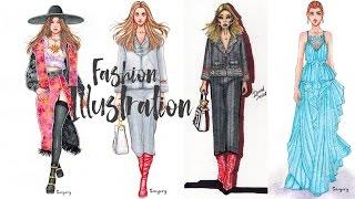 Конкурс, Показывающий Рисунки/Результаты в Рисунках | мода рисунки девушки