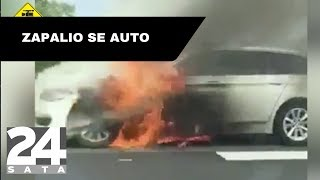 Požar na autocesti: Zapalio se automobil