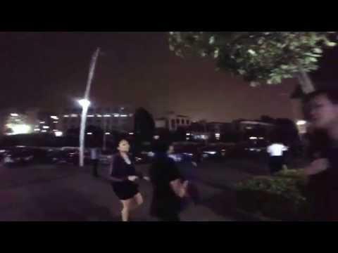 Emma Dannie Plaza dancing in shenzhen