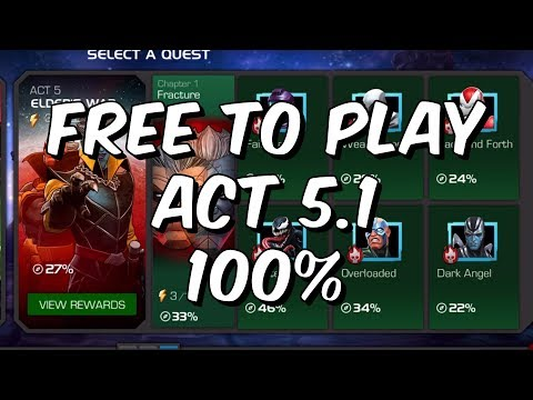 Act 5 Chapter 1 100% - Free To Play Adventures - Marvel Contest Of Champions