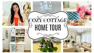 🏡COZY COTTAGE HOME TOUR 2020~PIONEER WOMAN KITCHEN~ 🏡 HOUSE TOUR~Olivia's Romantic Home DIY
