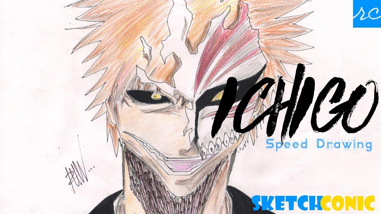 Speed Drawing Ichigo Kurosaki Hollow Mask