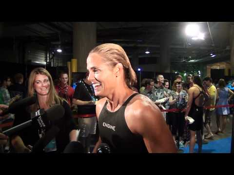 Dara Torres   Mixed Zone Interview D7   50 free