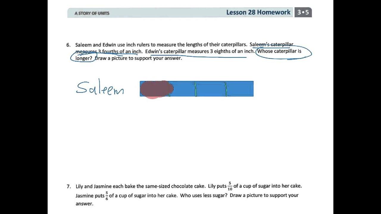 Grade 3 Module 5 Lesson 28 Homework - YouTube